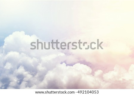 vivid colorful clouds , colorful sky Royalty-Free Stock Photo #492104053