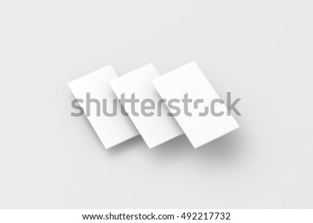 Blank white rectangles for phone screen web site design mockup, clipping path, 3d rendering. Smartphone app interface mock up. Website ui template browser display. Online application presentation.