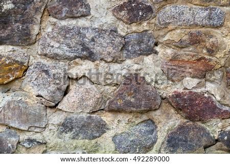 texture of stone masonry construction #492289000
