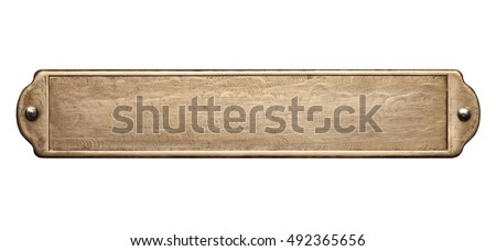 Brass plate texture. Old metal background with rivets. Royalty-Free Stock Photo #492365656