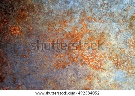 Rusted metal texture Royalty-Free Stock Photo #492384052