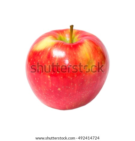 red apple isolated on white background #492414724