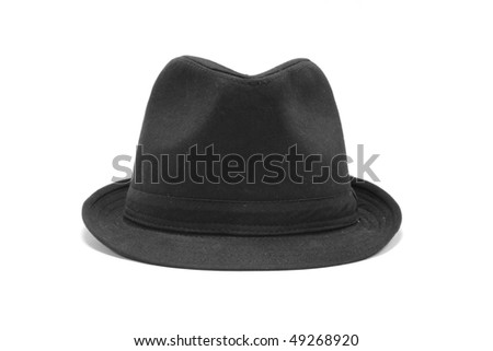 black hat on the white background #49268920