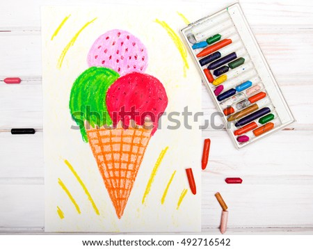 colorful drawing: tasty ice cream