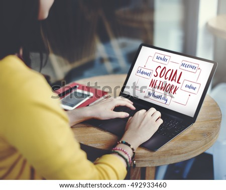 Social Media Online Connection Concept #492933460
