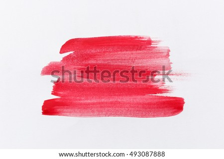 Red paint isolated on white background. #493087888