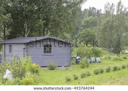 House in nature  #493764244