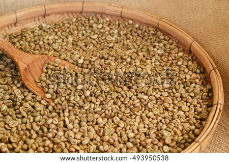Close up of coffee beans for background #493950538