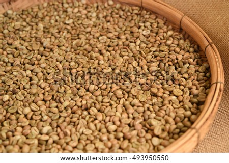 Close up of coffee beans for background #493950550
