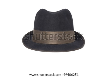 black classic men's hat on a white background #49406251