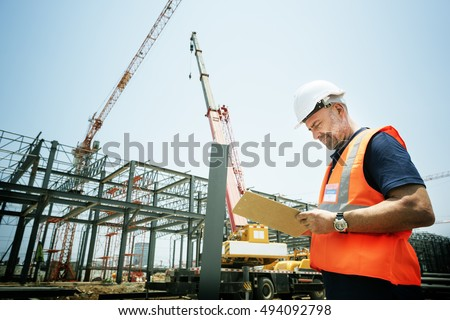 Architecture Construction Safety First Career Concept #494092798