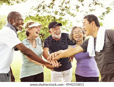 Group Of Senior Retirement Exercising Togetherness Concept #494255851
