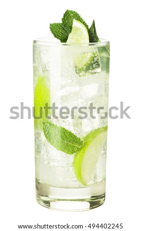 Mojito cocktail isolated on white background #494402245