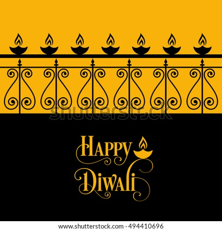 illustration of Diwali for the celebration of Hindu community festival. #494410696