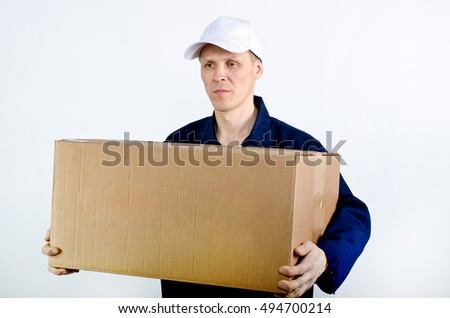 the man with the parcel #494700214