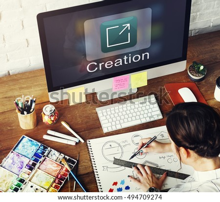 Creation Design Digital Gadget Invention Graphic Concept