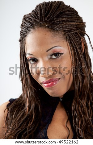 Lovely African American woman #49522162