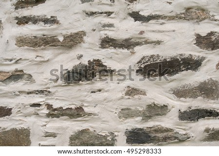 Thick Plaster on Stone Wall Background #495298333