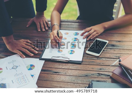 Corporate Business Planning with business chart Teamwork Concept. #495789718