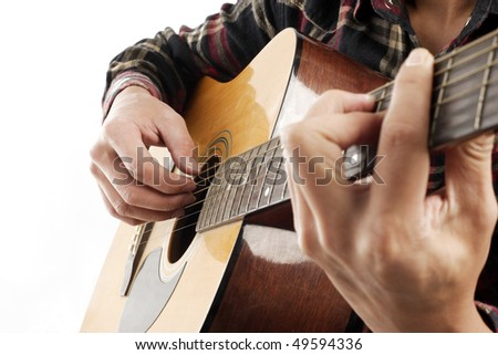 Playing the Guitar #49594336