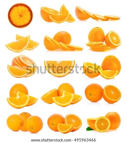 Orange fruit isolated on white background #495963466