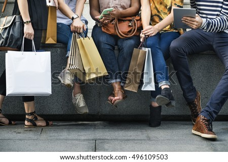 Group Of People Shopping Concept #496109503