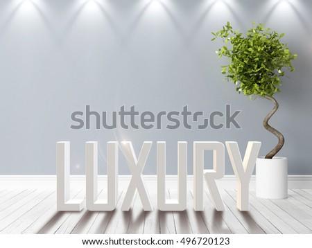 Modern bright interior . 3D rendering #496720123