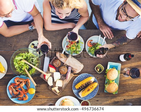 Group Of People Dining Concept #496736674