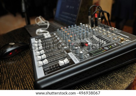 DJ mixer in the party #496938067