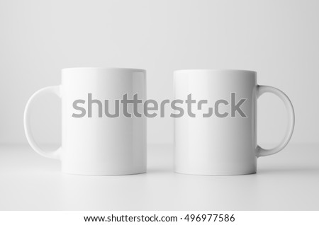 Mug Mock-Up - Two Mugs #496977586