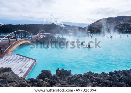The Blue Lagoon geothermal spa is one of the most visited attractions in Iceland #497026894