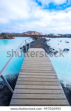 The Blue Lagoon geothermal spa is one of the most visited attractions in Iceland #497026903