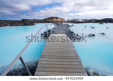 The Blue Lagoon geothermal spa is one of the most visited attractions in Iceland #497026909