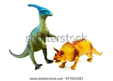 Isolated dinosaur on white background #497062081