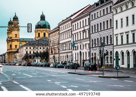 Photo of Munich buildings and houses, Germany #497193748