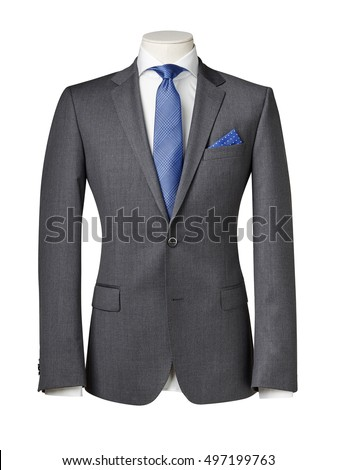 business suit on Mannequin with clipping path. #497199763