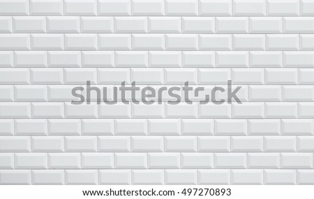 white ceramic brick tile wall background seamless  wall pattern