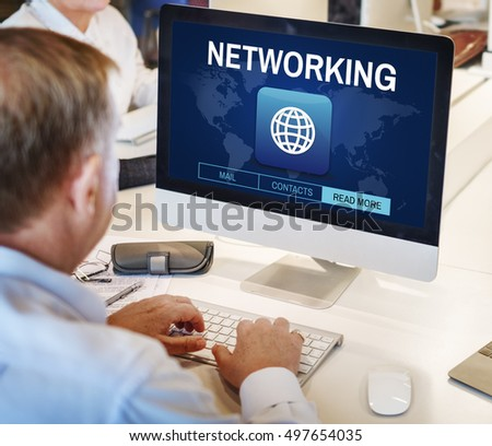 Global Communication Connection Networking Graphic Concept #497654035