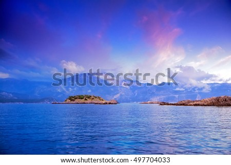 mediterranean, panoramic view #497704033