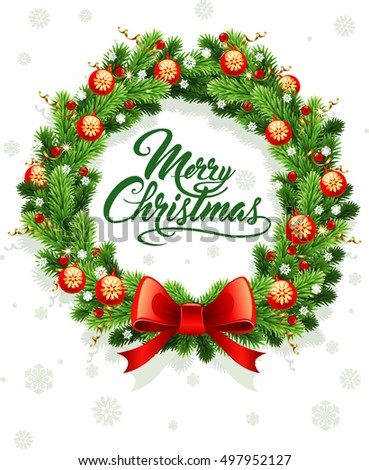 merry christmas background with calligraphy text #497952127