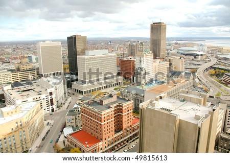 Buffalo skyline from the city hall observation deck