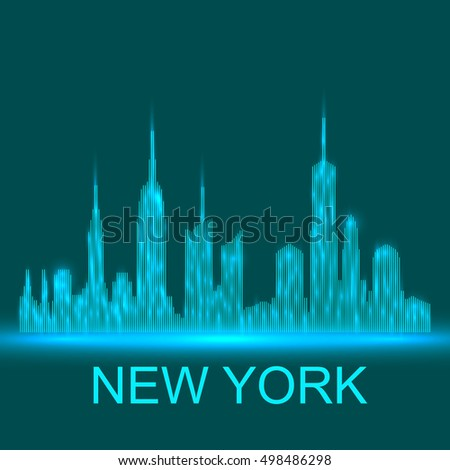 Technology image of New York. The concept vector illustration eps10. Abstract background. #498486298