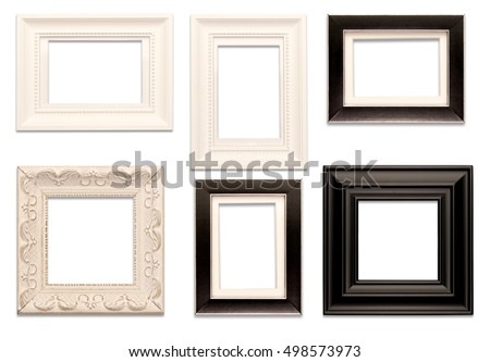 Picture Frames on White
