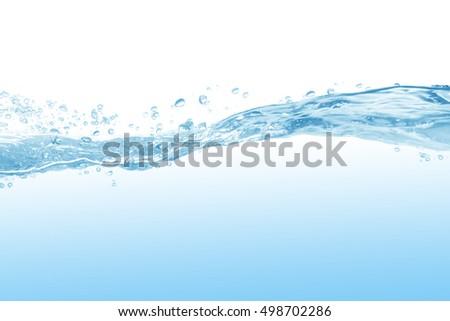 water splash isolated on white background #498702286