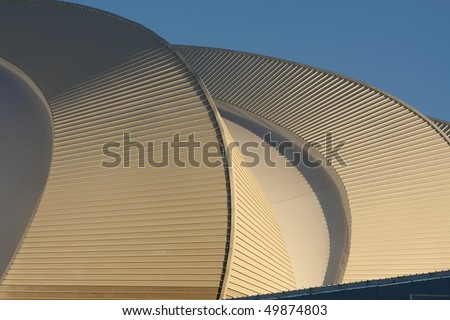 Unique design of roof for world cup soccer stadium in Port Elizabeth, South Africa #49874803