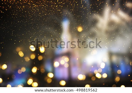 Holiday lighting background #498819562