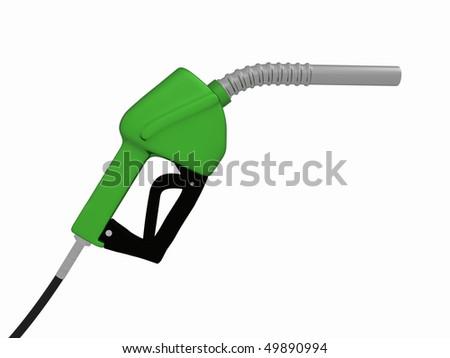 a 3d green gas pump #49890994