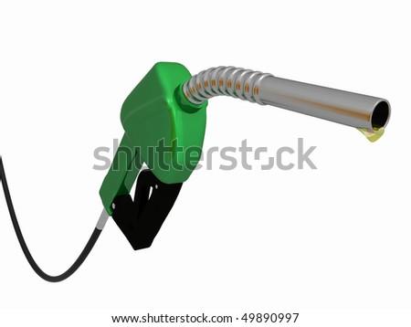 a 3d green gas pump #49890997