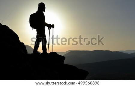 Man enjoys summit #499560898