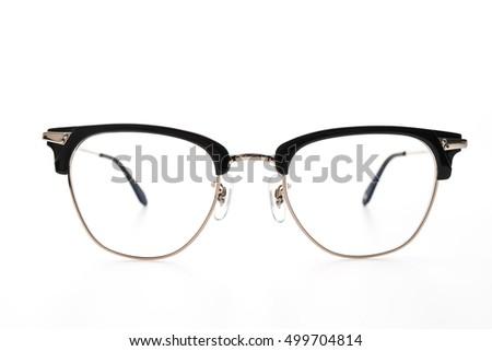 Eyeglasses wear isolated on white background #499704814